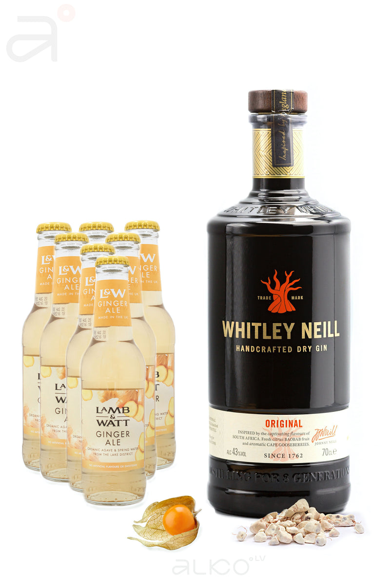 Komplekts 6. Whitley Neill Original Gin x1 + L&W Ginger Ale x7