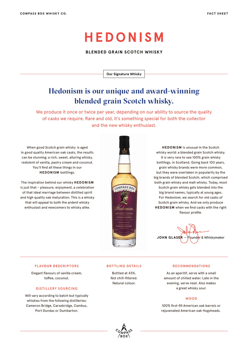 Compass Box Hedonisms 43% 0.7L