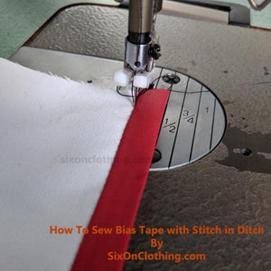 Sewing Tutorial - How to sew bias tape with Stitch-in-the-Ditch method