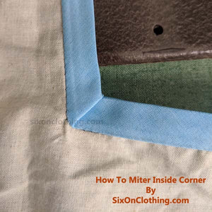Sewing Tutorial - How to sew & miter inner / inside corner with bias tape
