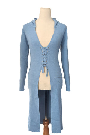 Angel Blue Duster Sweater Jacket
