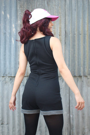 Black Trainer Romper