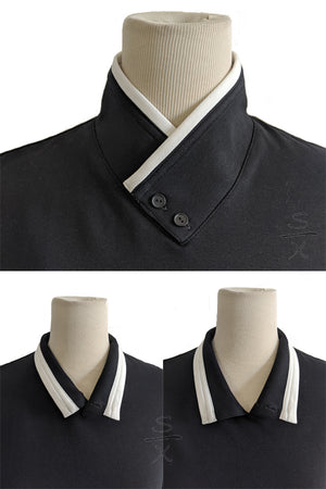 Samurai Collar Button-up Shirt