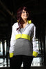 Trainer Cropped Yellow Trim Hoodie