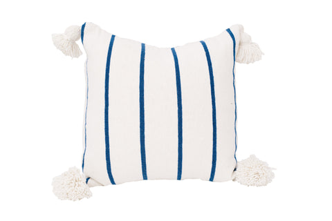 Blue Stripe Moroccan Cushion