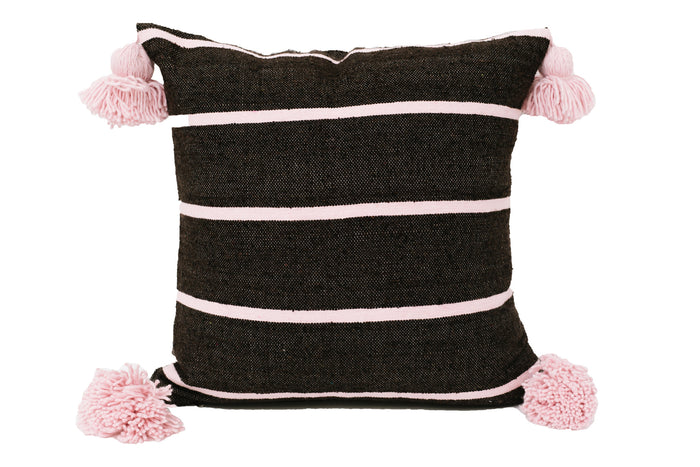 Chocolate Stripe Moroccan Cushion