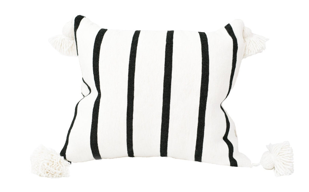 White Tassel Moroccan Cushion