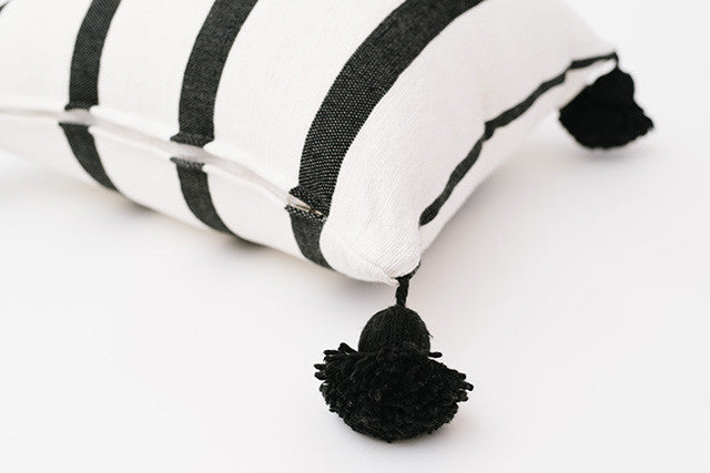 Black Tassel Moroccan Cushion