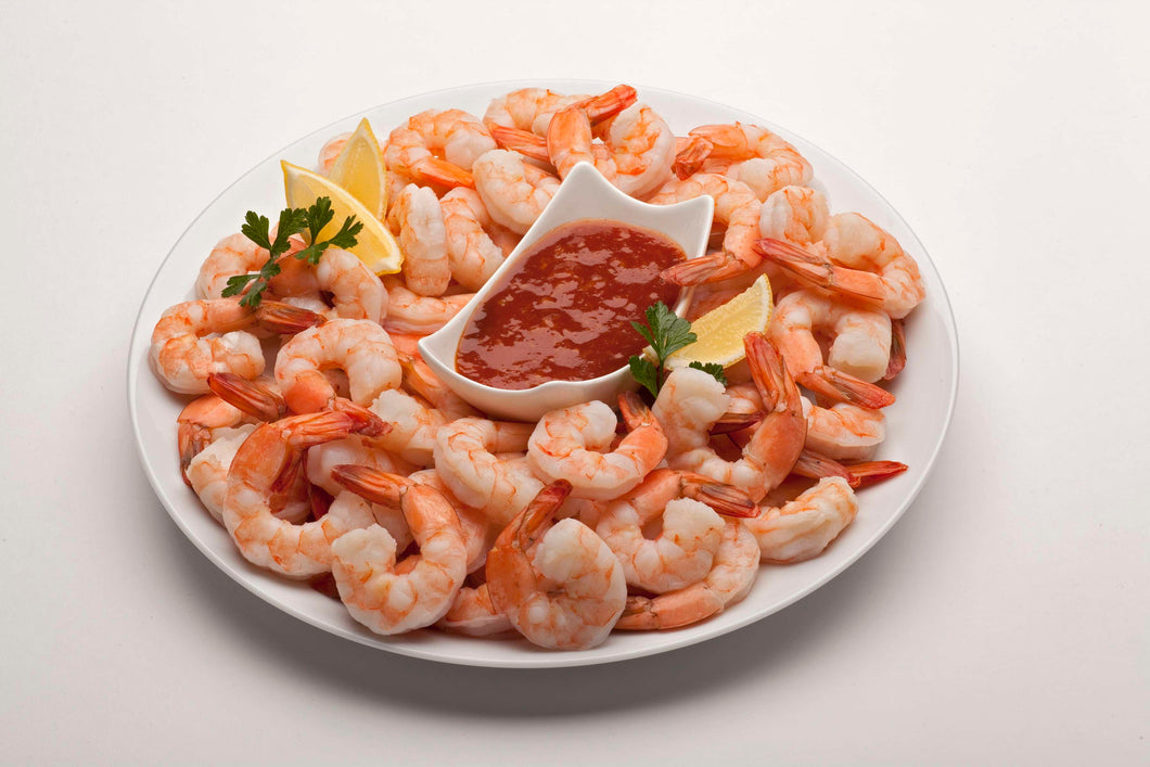 SHRIMP-COOKED, 16/20 CT...TAIL ON/PEELED & DEVEINED (2 LB.)