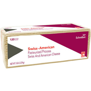 CHEESE-SWISS/AMERICAN, SLICED...120 CT. (5 LB.)