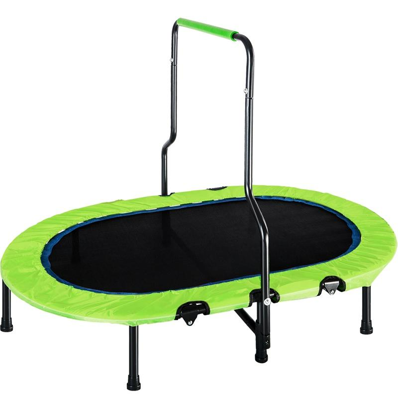 Child  Trampoline With Handrail Safety Cover Mini Kids Trampoline For Two Kids No-spring