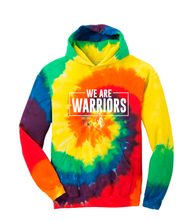 Load image into Gallery viewer, We are Warriors - Tie-Dye Pullover Hooded Sweatshirt (YOUTH)