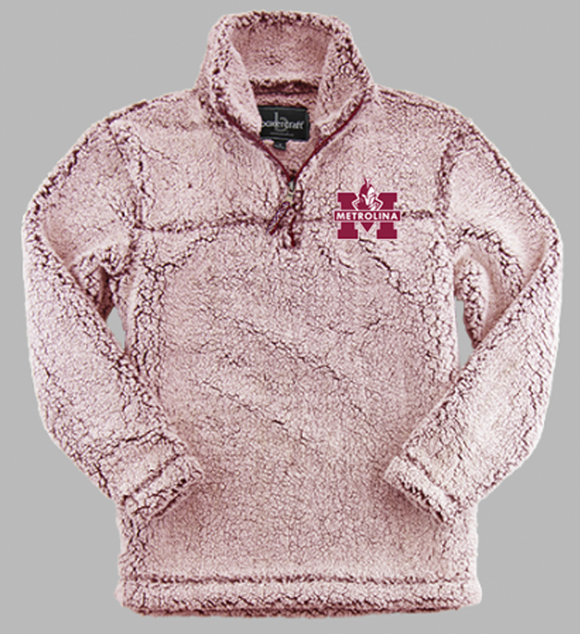 Metrolina Embroidered - SHERPA QUARTER ZIP PULLOVER (YOUTH)