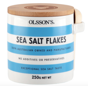 Olsson's Sea Salt Flakes Stoneware Jar