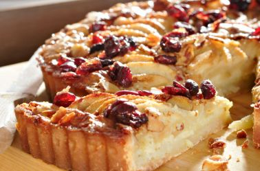 Gluten Free Apple Cake with Cranberries
