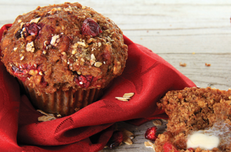Flourless Cranberry Breakfast Muffins