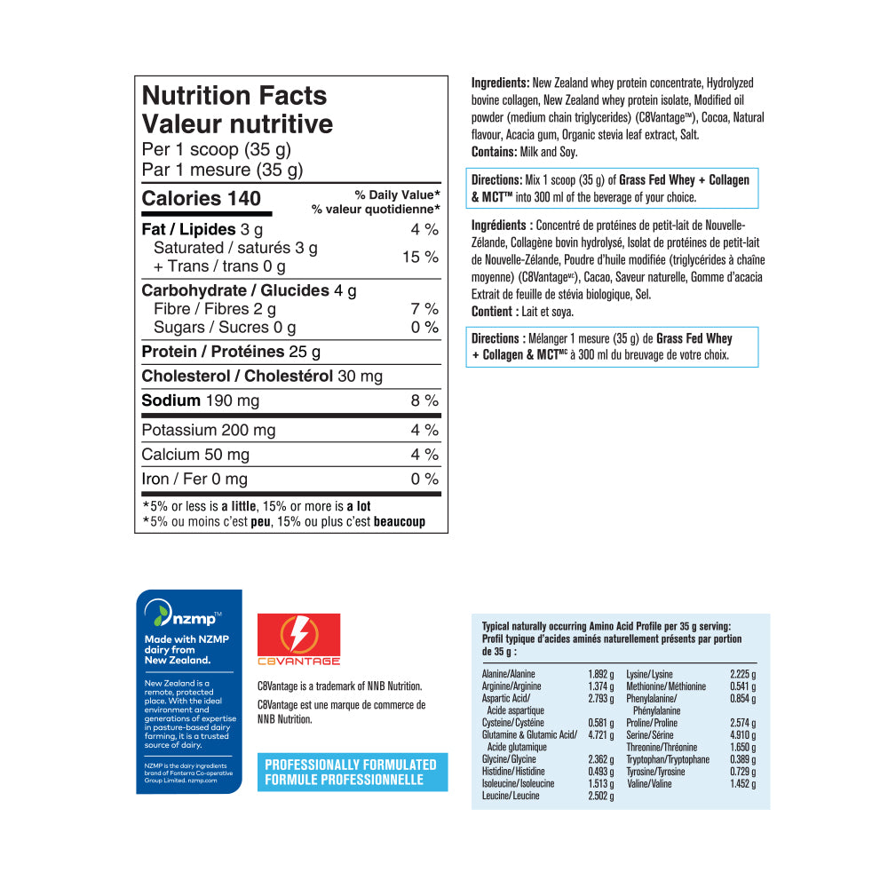 PV3423 Grass Fed Whey Chocolate Label
