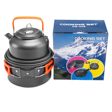 Load image into Gallery viewer, New Outdoor Jacketed Kettle Stove Teapot with Cup Combination Portable Camping Cookware Stove Equipment