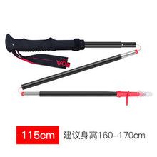 Load image into Gallery viewer, Off-Road Running Z Stick Alpenstock off-Road Folding Outdoor Ultra-Light Aluminum Alloy Straight Handle Hiking Stick