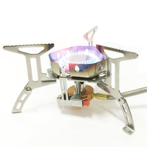 New Outdoor Stove Portable Stainless Steel Camping Gas Furnace Windproof Stove Head Picnic Stoves S187