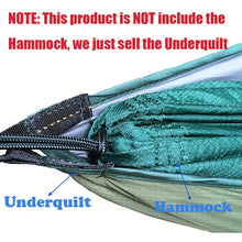 Load image into Gallery viewer, Camping Hiking Hammock Underquilt Under Quilt Sleeping Bag Warm Winter Outdoor