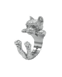 Dog Fever Sterling Silver Yorkshire Terrier Ring