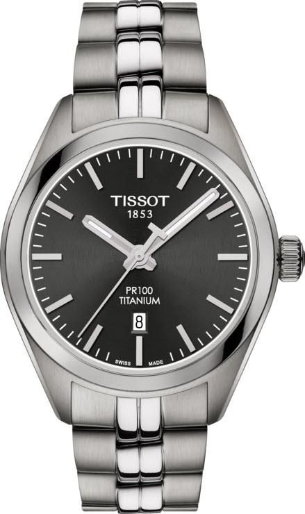 Tissot Ladies PR100 Watch with Charcoal Dial