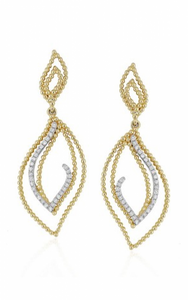 Madison L Beaded 14K Gold & Diamond Dangle Earrings