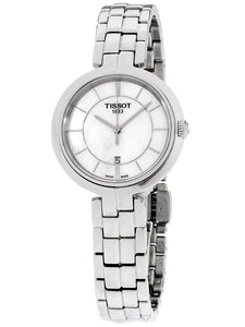 Tissot Ladies Stainless Steel Flaming Watch with Mother of Pearl Dial