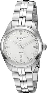 Tissot Ladies PR100 Watch with Silver Dial