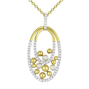 "Madison L 14K Yellow Gold & Diamond Pendant with 18"" Chain"