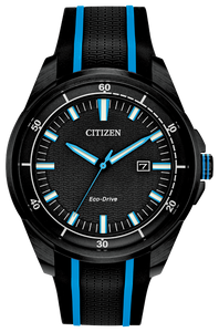 Citizen Drive Watch with Blue and Black Dial