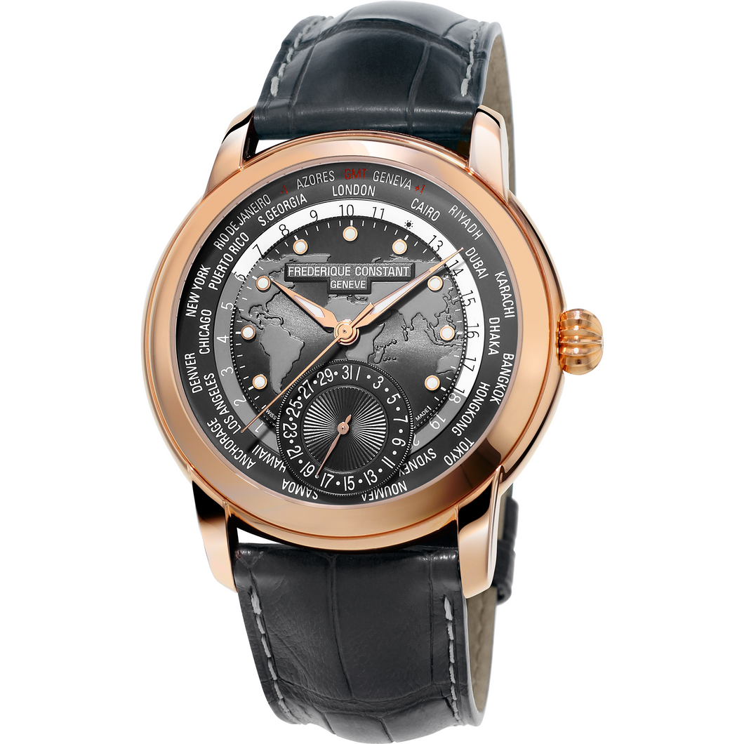 Frederique Constant Worldtimer Rose' watch