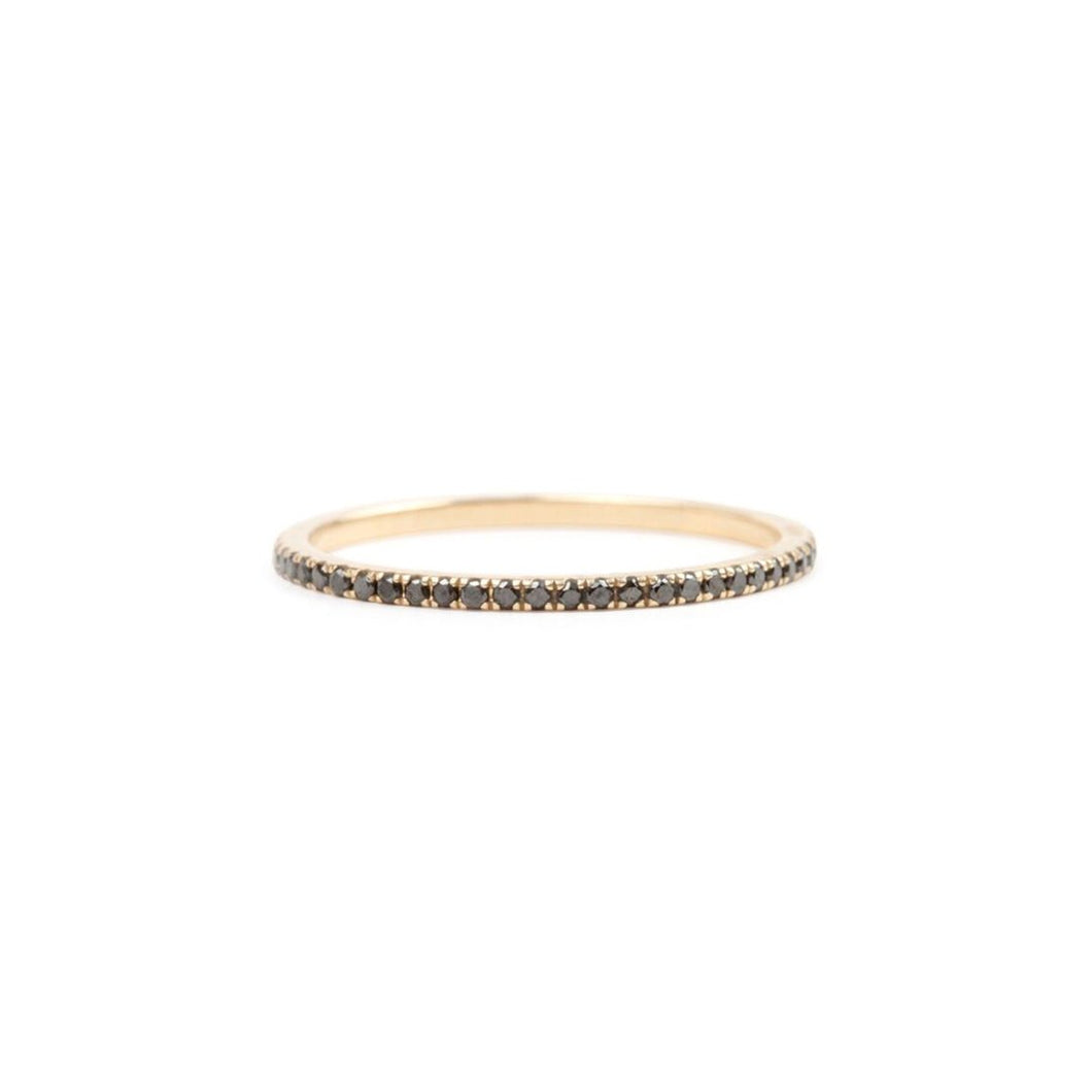 Jade Trau Pave Black Diamond Eternity Band