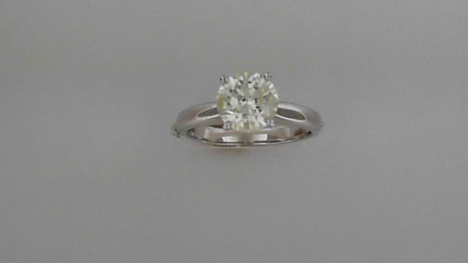 Lady's 14K White Gold Round Solitaire Engagement Ring