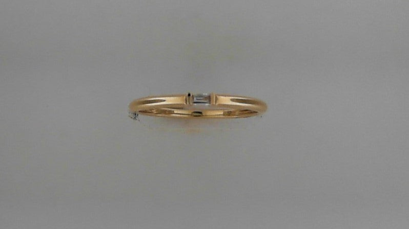 Lady's 14K Yellow Gold & Diamond Stackable Band Ring