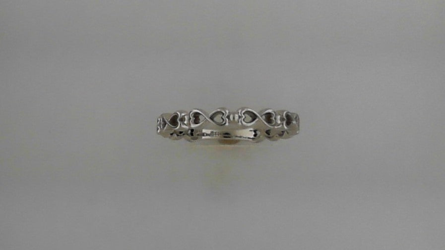 Lady's 14K White Gold Infinity Heart Band Ring