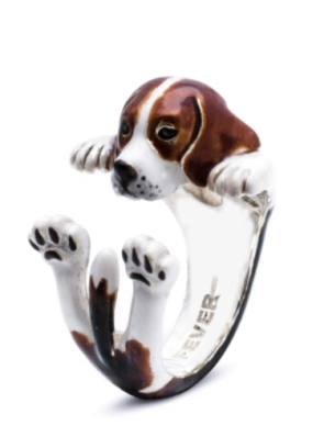 Dog Fever Beagle Enamel Ring