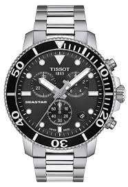 Tissot Divers Seastar 1000 Chronograph Watch with Black Dial