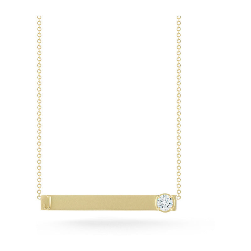 Jade Trau for Forevermark Diamond Nameplate Necklace