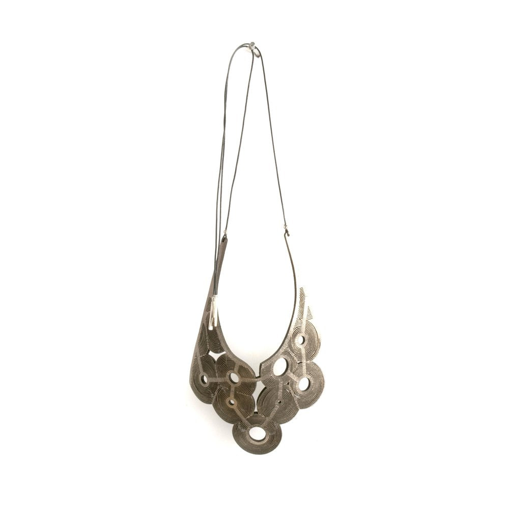 Oropopo Leia Whorls Necklace - Pewter