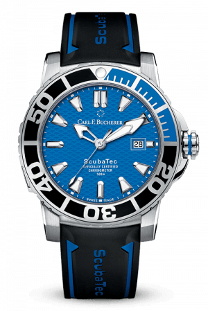 Carl F. Bucherer Patravi Scuba Tec Blue Dial Watch