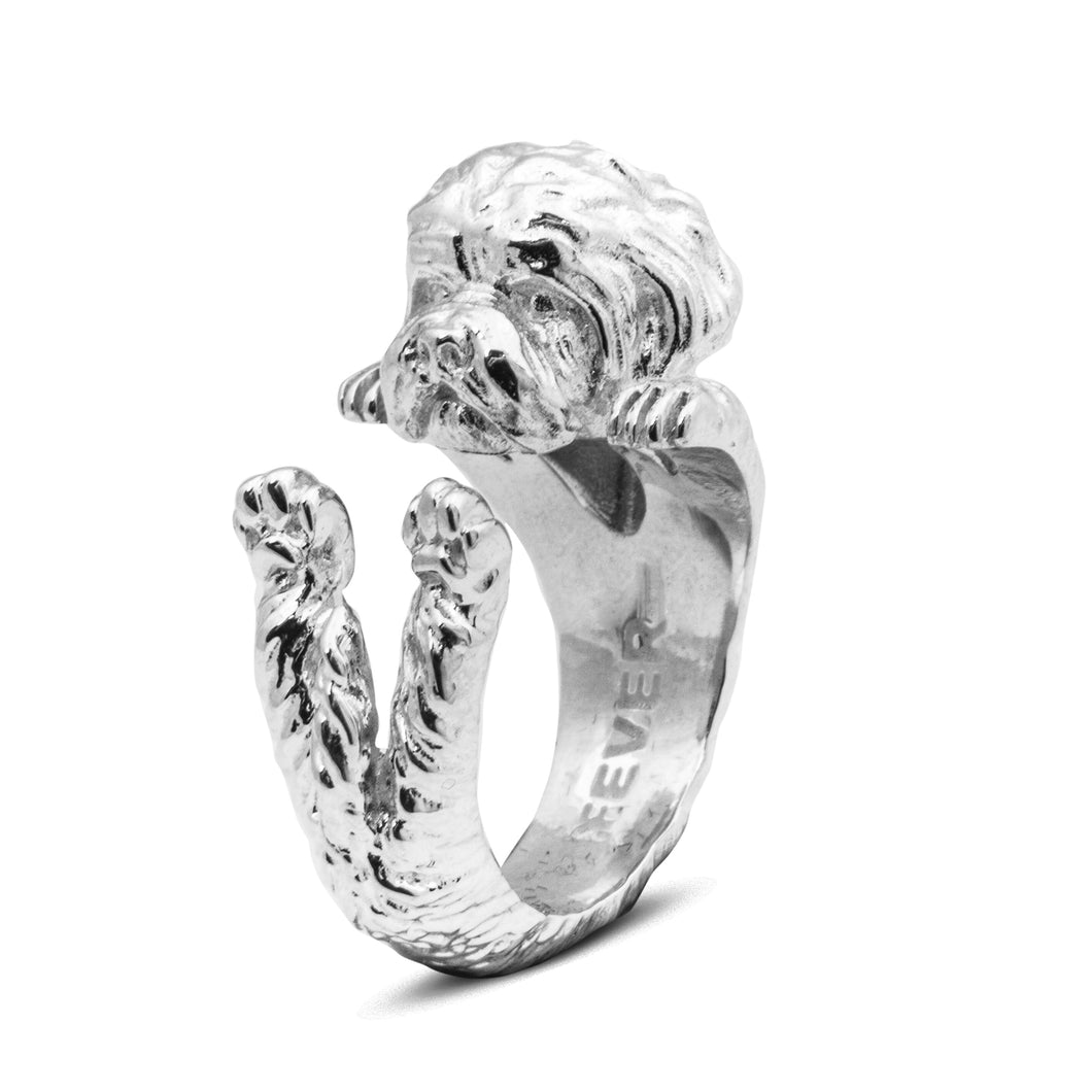Dog Fever Sterling Silver Maltese Ring