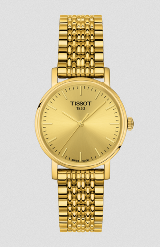 Tissot Ladies Gold tone Stainless Everytime Watch
