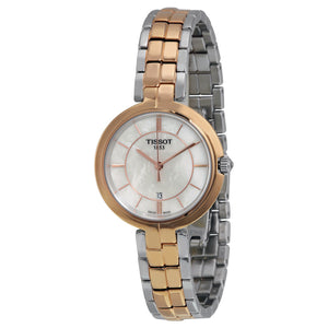 Tissot Two-Tone Ladies Flamingo Watch with Mother of Pearl Dial
