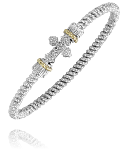 Alwand Vahan: Sterling Silver and 14k Gold Bangle