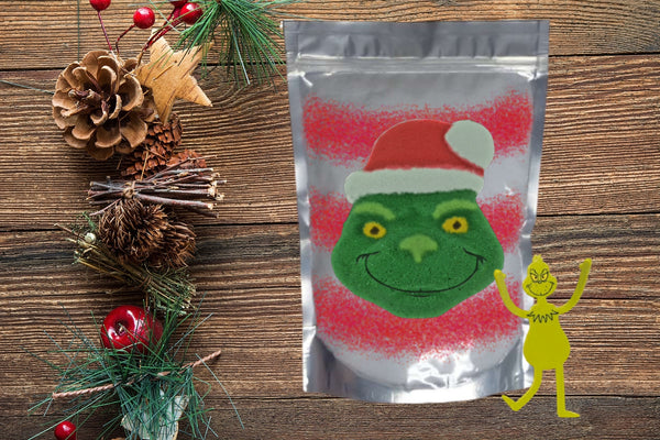 The Grinch Bath Bomb and Bath Soak