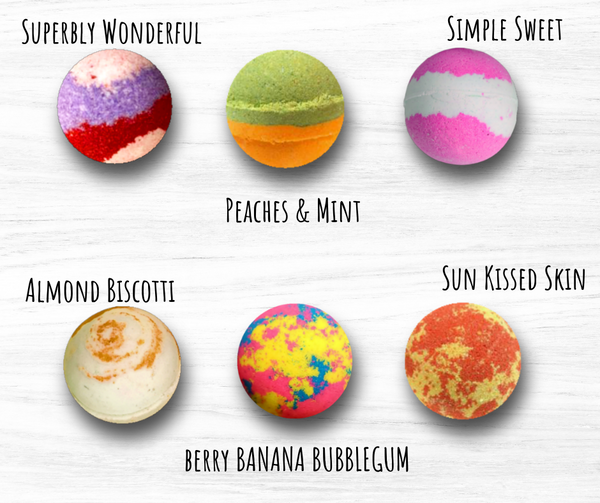 Superbly Simple Signature Collection Bath Bombs - Mix