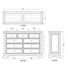 Load image into Gallery viewer, Bramble Huntley 9 Drawer Dresser 25771TKB