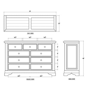 Bramble Huntley 9 Drawer Dresser 25771TKB